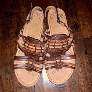 NATURALIZER Westerly Leather Sandals - Size 8.5M